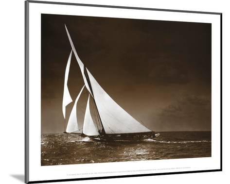 Sailing Yacht Mohawk at Sea, c.1895--Mounted Art Print