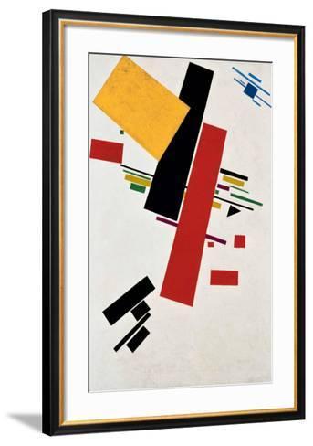 Dynamischer Suprematismus Nr. 57, c.1916-Kasimir Malevich-Framed Art Print