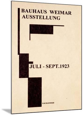 Bauhaus Gallery, c.1923--Mounted Giclee Print