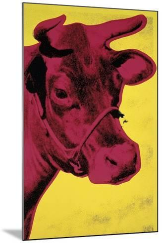 Cow, c.1966 (Yellow and Pink)-Andy Warhol-Mounted Giclee Print