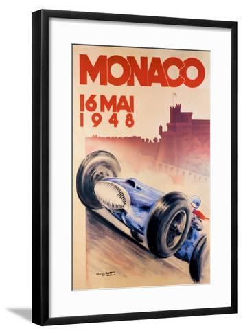 Grand Prix de Monaco, 1948-George Mattei-Framed Art Print