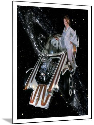 Cosmic Pin-Up Girl-David Perry-Mounted Giclee Print