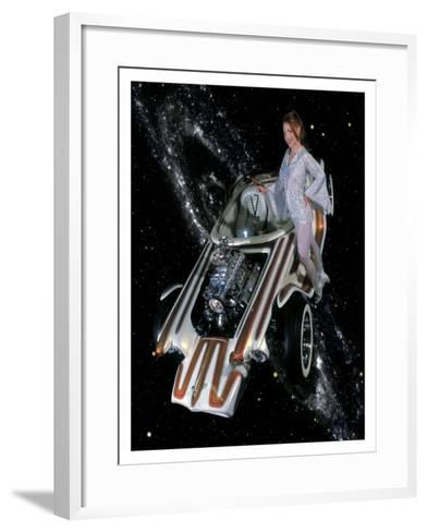 Cosmic Pin-Up Girl-David Perry-Framed Art Print
