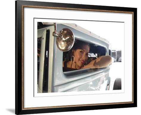 Hot Rod Pin-Up Girl-David Perry-Framed Art Print