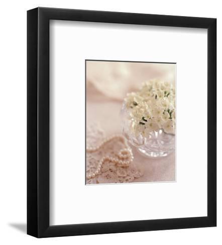 Pearls and Crystal II-Lina Ricci-Framed Art Print