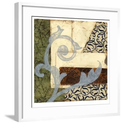 Quilted Scroll II-Jennifer Goldberger-Framed Art Print