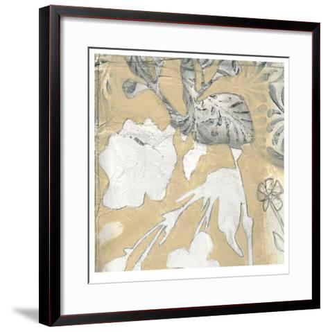 Neutral Garden Abstract I-Jennifer Goldberger-Framed Art Print