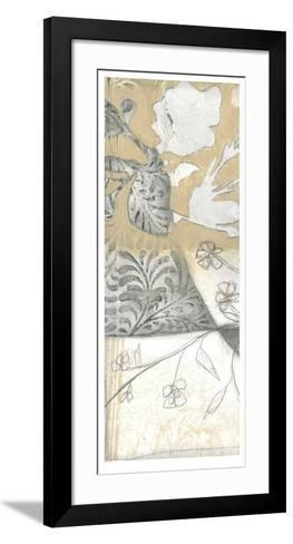 Neutral Garden Abstract V-Jennifer Goldberger-Framed Art Print