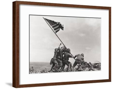 Flag Raising on Iwo Jima, c.1945-Joe Rosenthal-Framed Art Print