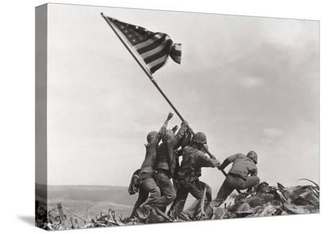 Flag Raising on Iwo Jima, c.1945-Joe Rosenthal-Stretched Canvas Print