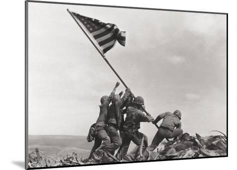 Flag Raising on Iwo Jima, c.1945-Joe Rosenthal-Mounted Art Print