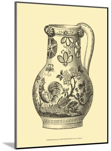 Delft Pottery II--Mounted Art Print