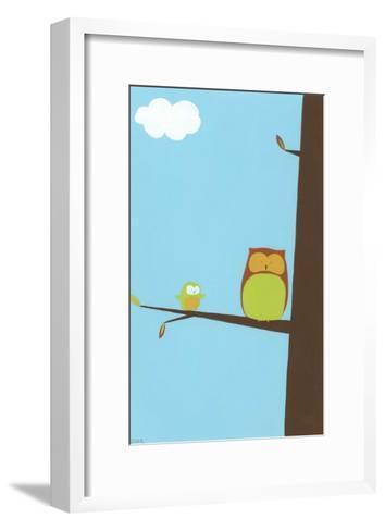 Treetop Owls II-Erica J. Vess-Framed Art Print