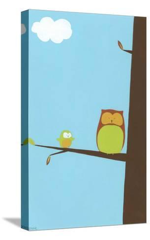 Treetop Owls II-Erica J. Vess-Stretched Canvas Print