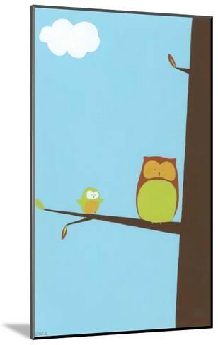 Treetop Owls II-Erica J. Vess-Mounted Art Print