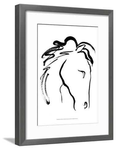 Equine Profile II-Alicia Ludwig-Framed Art Print