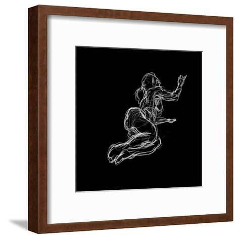Figure Study on Black IV-Charles Swinford-Framed Art Print