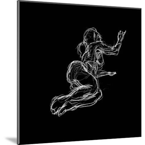 Figure Study on Black IV-Charles Swinford-Mounted Art Print