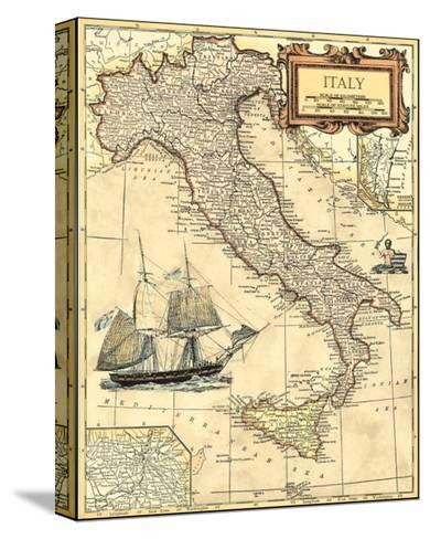 Italy Map--Stretched Canvas Print