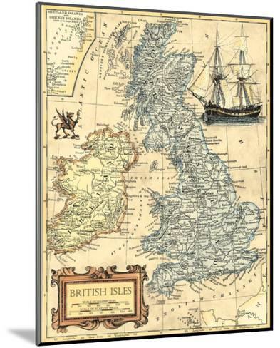 British Isles Map--Mounted Art Print