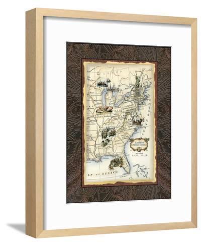 Eastern States Map--Framed Art Print