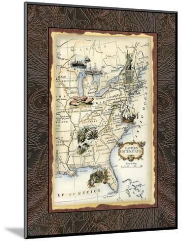Eastern States Map--Mounted Art Print