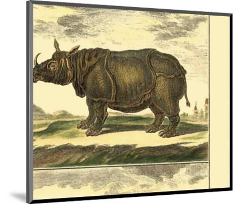 Elephant and Rhino-Denis Diderot-Mounted Art Print