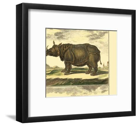 Elephant and Rhino-Denis Diderot-Framed Art Print