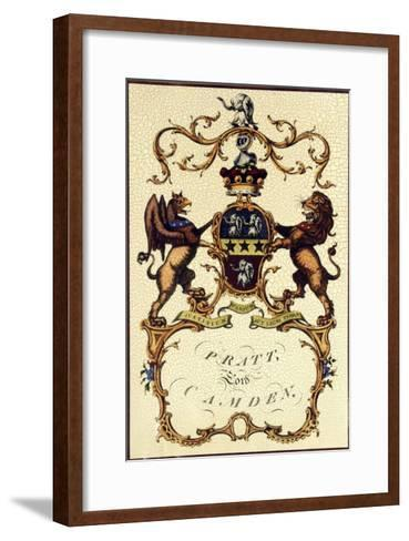 Crackled Lord Camden-Jacobs Peerage-Framed Art Print