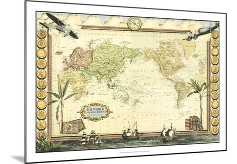 Adventure Map--Mounted Giclee Print