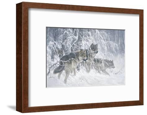 Edge of Winter (detail)-Larry Fanning-Framed Art Print