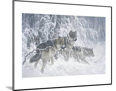 Edge of Winter (detail)-Larry Fanning-Mounted Art Print