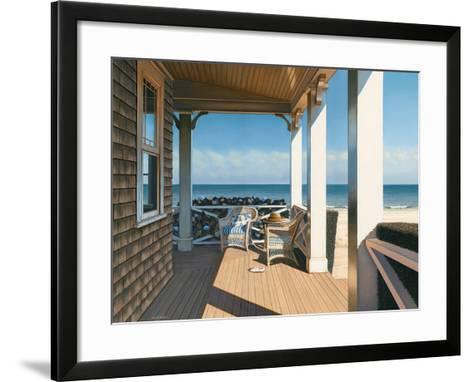 Nantucket Shore-Daniel Pollera-Framed Art Print