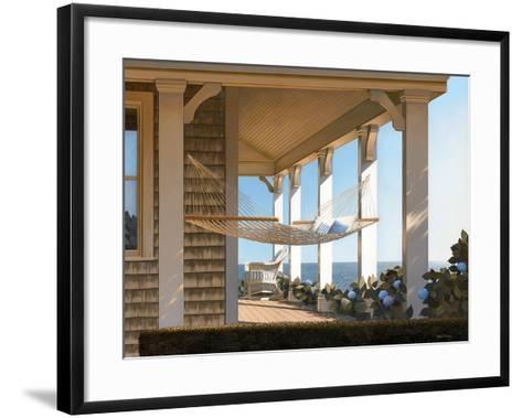 Seaside Hammock-Daniel Pollera-Framed Art Print
