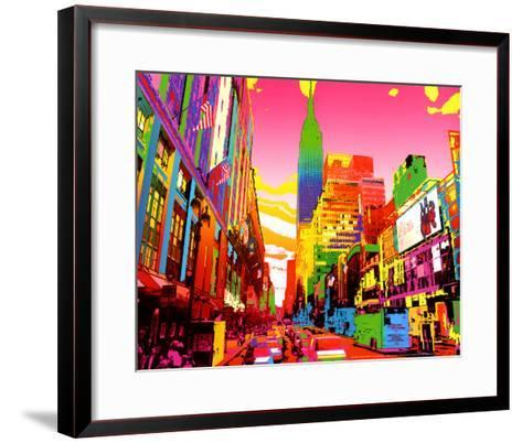 Empire State Building-Geraldine Potron-Framed Art Print