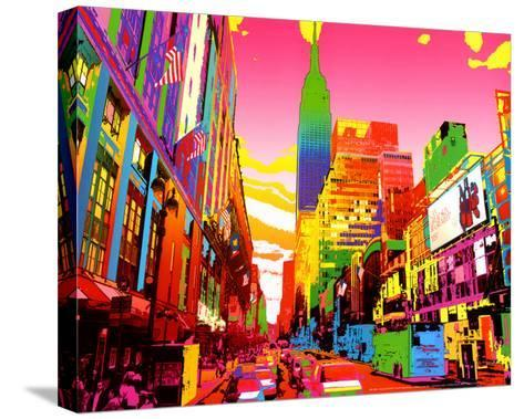 Empire State Building-Geraldine Potron-Stretched Canvas Print