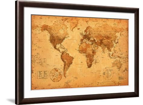 World map poster by the new art world map framed art print gumiabroncs Choice Image