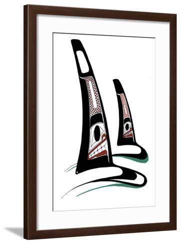 Orcas-Danny Dennis-Framed Art Print
