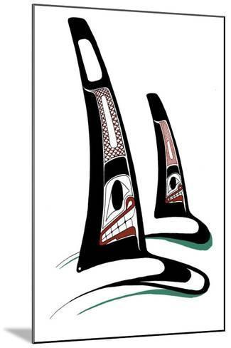 Orcas-Danny Dennis-Mounted Collectable Print