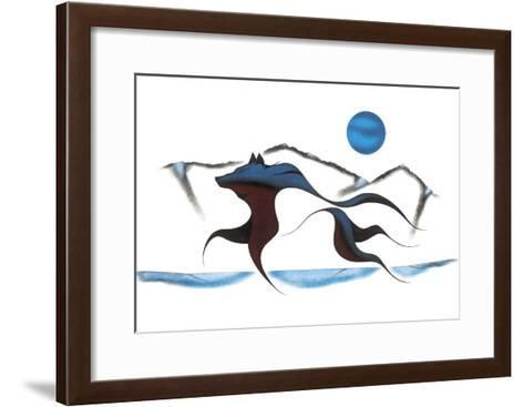 Wolf Spirit II-Isaac Bignell-Framed Art Print