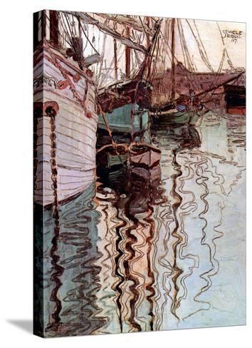 Der Hafen von Triest-Egon Schiele-Stretched Canvas Print