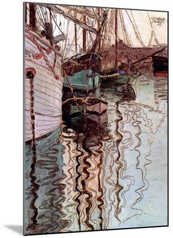 Der Hafen von Triest-Egon Schiele-Mounted Art Print