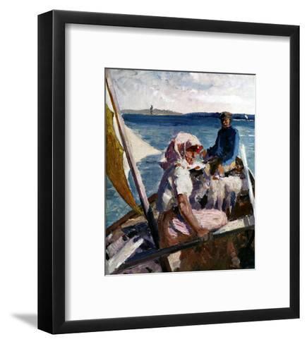 Afternoon Sea Breeze-Albert Edelfelt-Framed Art Print