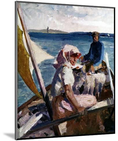 Afternoon Sea Breeze-Albert Edelfelt-Mounted Art Print