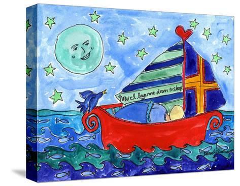Moon Fish and Star Sailing-Deborah Cavenaugh-Stretched Canvas Print