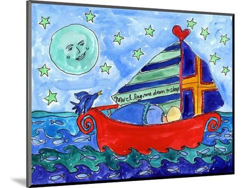 Moon Fish and Star Sailing-Deborah Cavenaugh-Mounted Art Print