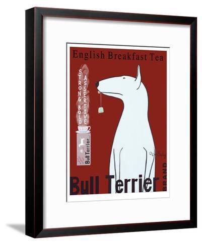 Bull Terrier Tea-Ken Bailey-Framed Art Print