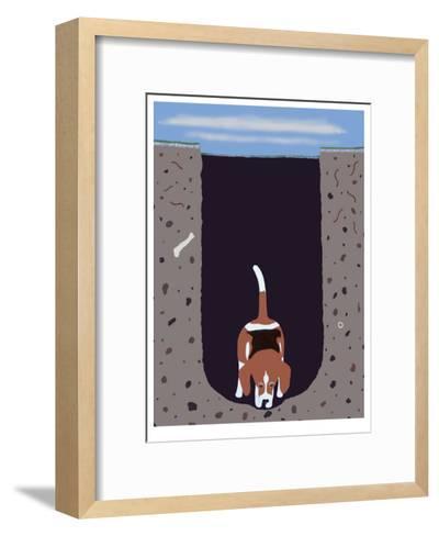 One Beagle - 1 Afternoon-Ken Bailey-Framed Art Print