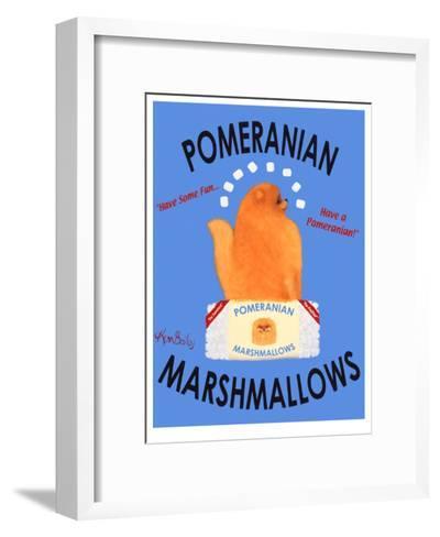 Pomeranian Marshmallows-Ken Bailey-Framed Art Print