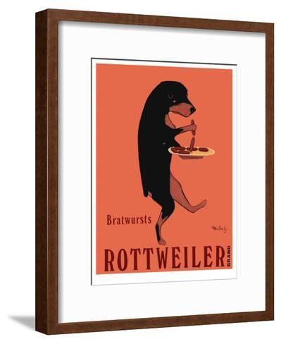 Rottweiler Brand-Ken Bailey-Framed Art Print
